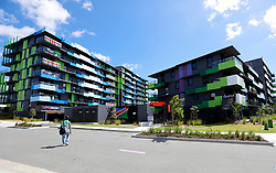 "EXCLUSIVE: Visiting athletes have declared the Gold Coast Commonwealth Games village the ""best ever built"". The village has everything from condom vending machines, cafes, a hair salon, green area, its own post office, pools in every apartment block, and an entertainment hub. English Beach volleyballers Victoria Palmer and Jess Grimson declared it the ""best games village"" ever. 30 Mar 2018 Pictured: Athlete accommodation. Photo credit: MEGA TheMegaAgency.com +1 888 505 6342"