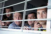20161127/ Javier Calvelo - adhocFOTOS/ URUGUAY/ MONTEVIDEO/  DEPORTE - FUTBOL/ CAMPEONATO URUGUAYO ESPECIAL 2016 / 13° FECHA/ Peñarol ante Nacional por el clasico del futbol uruguayo en el Estadio Centenario en la 13° fecha del Campeonato Uruguayo Especial 2016.<br /> En la foto:Momentos previos al coomienzo del encuentro Peñarol ante Nacional en el Estadio Centenario por el Campeonato Uruguayo Especial. Foto: Javier Calvelo/ adhocFOTOS