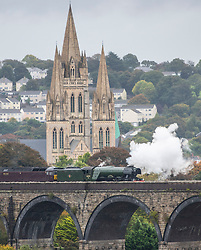 © Licensed to London News Pictures. 6/10/2018 Flying Scotsman passing through Truro in Cornwall Photo credit : MARK HEMSWORTH/LNP