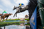 April 29, 2017, 22nd annual Queen's Cup Steeplechase. NATURALLY WON and jockey Jack Doyle
