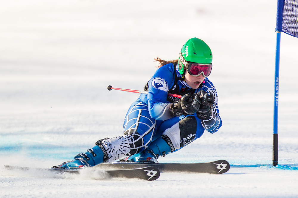 Jeanne Barthold of Colby College, skis during the first run of the women's giant slalom at the Dartmouth Carnival at Dartmouth Skiway on February 7, 2014 in Lyme, NH. (Dustin Satloff/EISA)