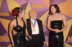 HBO Golden Globe After Party, Beverly Hilton Hotel. 07 Jan 2018 Pictured: Buzz Aldrin, Maggie Gyllenhaal. Photo credit: David Edwards / MEGA TheMegaAgency.com +1 888 505 6342