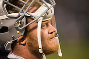 Oakland Raiders center Ross Burbank (62) during a preseason NFL game against the Tennessee Titans at Oakland Coliseum in Oakland, Calif., on August 26, 2016. (Stan Olszewski/Special to S.F. Examiner)