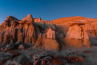 Twilight on the strange landscape of the Ah-Shi-Sie-Pah Wilderness Study Area, New Mexico USA.