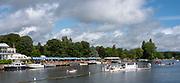 Henley-On-Thames, Berkshire, UK., Sunday, 15.08.21,   General View, 2021 Henley Royal Regatta,  River Thames, Thames Valley, Henley Reach, [Mandatory Credit © Peter Spurrier/Intersport Images],