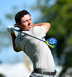 October 1, 2016 - Chaska, MN, USA - Europe's Rory McIlroy hits from the 3rd tee during the afternoon matches of the Ryder Cup on Saturday, Oct. 1, 2016, at Hazeltine National Golf Club in Chaska, Minn. (Credit Image: © Aaron Lavinsky/TNS via ZUMA Wire)