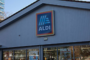 Supermarket chain Aldi store on Old Kent Road on 9th January 2020 in London, England, United Kingdom. Aldi is the common brand of two German family-owned discount supermarket chains with over 10,000 stores in 20 countries. With its low price, discount approach, Aldi is rapidly becomming serious competition to the big four supermarkets in the UK.