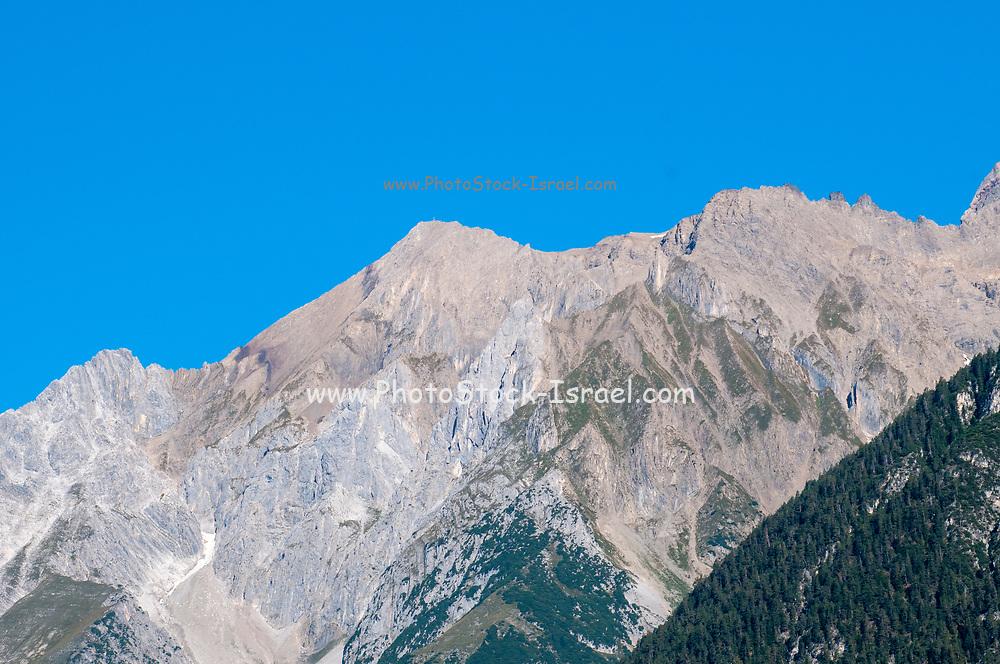 Barren Alpine Mountain peak, Landeck, Tirol, Austria