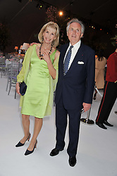 LORD & LADY HINDLIP at a dinner hosted by Cartier following the following the opening of the Chelsea Flower Show 2012 held at Battersea Power Station, London on 21st May 2012.