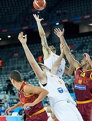 06-09-2015 CRO: FIBA Europe Eurobasket 2015 Nederland - Macedonie, Zagreb<br /> Worthy de Jong of Netherlands during basketball match between Netherlands and Macedonia at Day 2 in Group C of FIBA Europe Eurobasket 2015, on September 6, 2015, in Arena Zagreb, Croatia. Photo by Vid Ponikvar / RHF