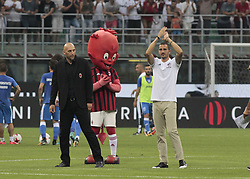 August 3, 2017 - Milan, Italy - Leonardo Bonucci during the preliminaries of Europa League 2017/2018 match between Milan v Craiova, in Milan, on august 3, 2017  (Credit Image: © Loris Roselli/NurPhoto via ZUMA Press)