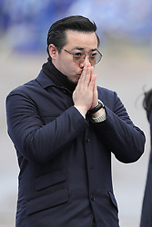 Aiyawatt Srivaddhanaprabha, son of Leicester City chairman Vichai Srivaddhanaprabha, views the tribute site near to Leicester City Football ClubÕs King Power Stadium, ahead of a visit by the Duke and Duchess of Cambridge to pay tribute to those who were killed in the helicopter crash last month.