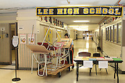 Lee High School preparing for the first day of school.