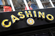 Sign for the gambling brand Cashino in Birmingham, United Kingdom.