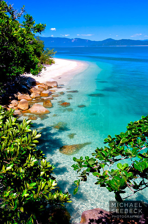 A landscape photograph of Nudey Beach on Fitzroy Island, on an idyllic fine day.<br /> <br /> Limited Edition print