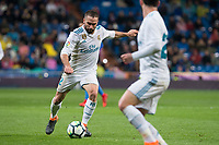 Real Madrid Daniel Carvajal during La Liga match between Real Madrid and Getafe CF  at Santiago Bernabeu Stadium in Madrid , Spain. March 03, 2018. (ALTERPHOTOS/Borja B.Hojas)