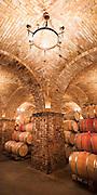 Grand Barrel Room at Castello di Amarosa Winery, Calistoga, California