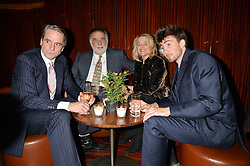 Left to right, JEREMY IRONS, FRANCIS FORD COPPOLA, SINEAD CUSACK and BAILEY COPPOLA at a dinner hosted by Liberatum to honour Francis Ford Coppola held at the Bulgari Hotel & Residences, 171 Knightsbridge, London on 17th November 2014.