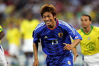 """–ö'ò""""Ö/ Atsushi Yanagisawa (JPN), <br /> JUNE 22, 2005 - Football : FIFA Confederations Cup Germany 2005-Group B- between Japan 2-2 Brazil in at the FIFA World Cup Stadium, Cologne, Cologne, Germany.  <br /> (Photo by AFLO SPORT/Digitalsport<br /> Norway only"""
