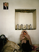 Visit of a rehab center for opium addict in Khandud. Portrait of the Aga Khan..Winter expedition through the Wakhan Corridor and into the Afghan Pamir mountains, to document the life of the Afghan Kyrgyz tribe. January/February 2008. Afghanistan
