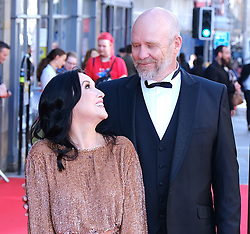 Edinburgh International Film Festival 2019<br /> <br /> Boyz In The Wood (European Premiere)<br /> <br /> Stars and guests arrive on the red carpet for the opening gala<br /> <br /> Pictured: Jason Connery and partner Fiona<br /> <br /> Alex Todd | Edinburgh Elite media