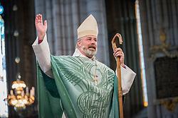 1 september 2018, Uppsala, Sverige: Biskop Thomas Petersson, Visby stift, leder sändningsgudstjänst i Uppsala domkyrka för personal som ska påbörja tjänstgöring för Svenska kyrkan i utlandet (SKUT). SKUT ingår i Visby stifts ansvarsområde.