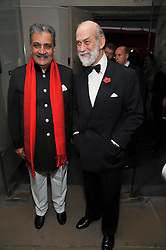 Left to right, the MAHARAJA GAJ SINGH I I OF MARWAR- JODHPUR and HRH PRINCE MICHAEL OF KENT at the Royal Rajasthan Gala 2009 benefiting the Indian Head Injury Foundation held at The Banqueting House, Whitehall, London on 9th November 2009.