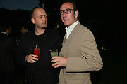 MAX WIGRAM AND ROBERT HANSON, The Summer Party in association with Swarovski. Co-Chairs: Zaha Hadid and Dennis Hopper, Serpentine Gallery. London. 11 July 2007. <br />