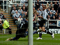 Photo: Jed Wee/Sportsbeat Images.<br /> Newcastle United v Chelsea. The Barclays Premiership. 22/04/2007.<br /> <br /> Newcastle's Kieron Dyer (R) has a shot saved by Chelsea goalkeeper Petr Cech in a good chance.