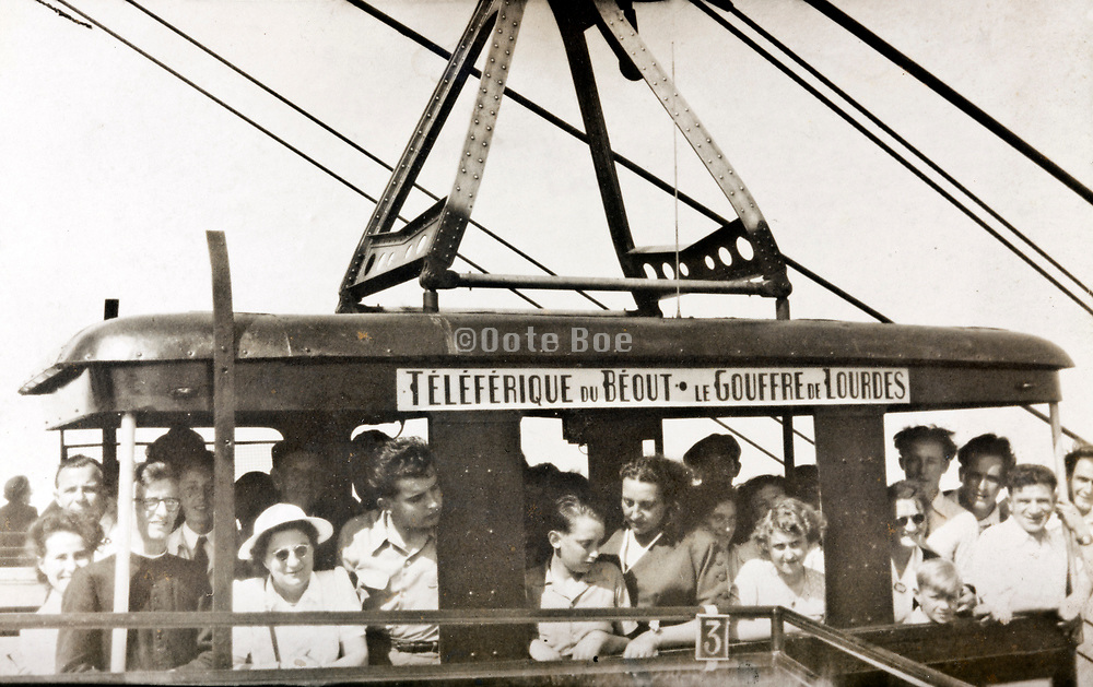 cable car 1950s Teleferique du Béout le Gouffre de Lourdes France