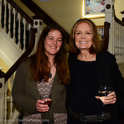 Gloria Steinem cocktail reception at the Discover Portsmouth Center in Portsmouth, NH. Apri 19, 2013