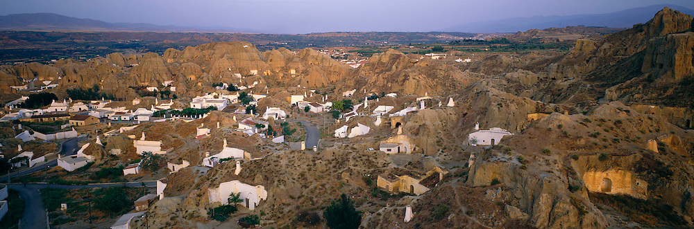 SPAIN, ANDALUSIA Guadix; rock-cut 'cave' dwellings