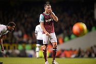 Andy Carroll of West Ham United looks on . Barclays Premier league match, Tottenham Hotspur v West Ham Utd at White Hart Lane in London on Sunday 22nd November 2015.<br /> pic by John Patrick Fletcher, Andrew Orchard sports photography.