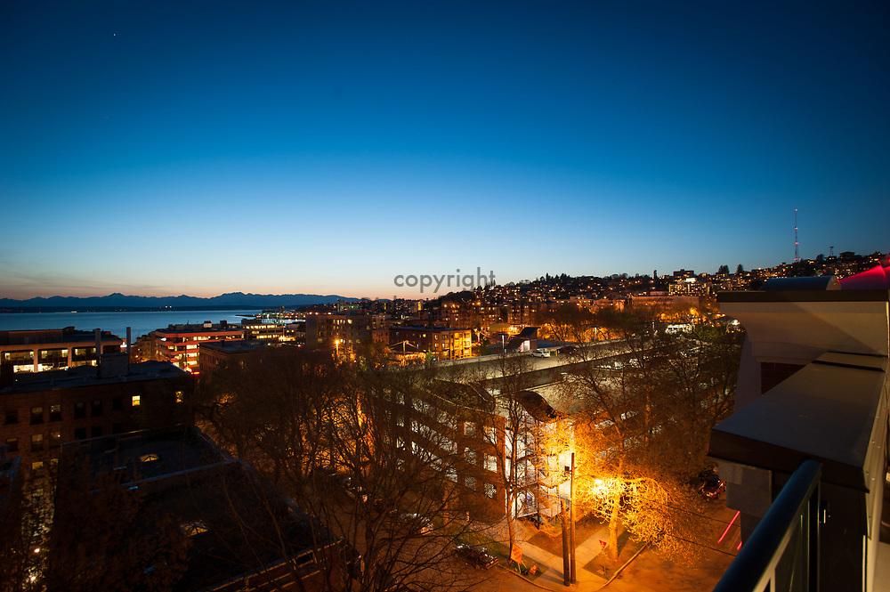 2013 April 22 - Evening view of Queen Anne, Seattle, WA. By Richard Walker