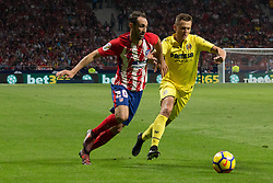 October 28, 2017 - Madrid, Spain - Juanfran (L) and Cherishev (R)..Draw at 1 in Wanda Metropolitano stadium. (Credit Image: © Jorge Gonzalez/Pacific Press via ZUMA Wire)