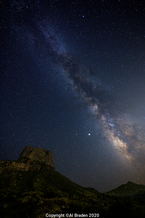 Milky Way over Casa Grande  Peak, Big Bend National Park