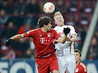 """Fotball<br /> Tyskland<br /> 08.12.2012<br /> Foto: Witters/Digitalsport<br /> NORWAY ONLY<br /> <br /> v.l. Javier """"Javi"""" Martinez (Bayern), Kevin Vogt<br /> <br /> Fussball Bundesliga, FC Augsburg - FC Bayern München"""