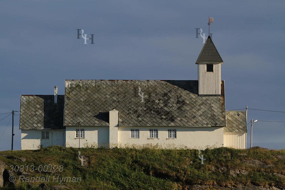 Church in town of Ingoy on Ingoya island, Finnmark, Norway.