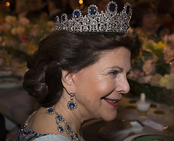 Kˆnigin  Silvia<br /> <br />  <br /> <br />  beim Nobelbankett 2016 im Rathaus in Stockholm / 101216 <br /> <br /> <br /> <br /> ***The Nobel banquet, Stockholm City Hall, December 10th, 2016***