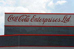 """© Licensed to London News Pictures. 26/04/2013.Coca cola job cuts across the UK..Jobs could go at the Coca-Cola plant in Sidcup after the company announced nearly 300 positions in the UK are at risk..The Cray Road factory has been in business for more than 50 years and currently has 344 employees and seven manufacturing lines..Coca-Cola Enterprises (CCE) is planning to end its direct delivery service primarily used by restaurants..A CCE statement said: """"We have now started a full consultation on these proposals with our employee representative bodies and the Unite trade union..  The soft drinks giant has announced 288 jobs could go from a total work force of 4,400 across sites including Bristol, East Kilbride, Edmonton, Northampton and Wakefield and Sidcup... Photo credit :Grant Falvey/LNP"""
