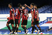 Bournemouth midfielder Junior Stanislas (19) celebrates his goal 1-3  during the Premier League match between Everton and Bournemouth at Goodison Park, Liverpool, England on 26 July 2020.