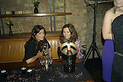 CLAUDIA WINKLEMAN AND SINEAD MCKEEFRY, Lucy Yeomans Editor of Harper's Bazaar and Moet and Chandon host the Gold Party. 17 Berkeley St. London W1. 1 November 2007. -DO NOT ARCHIVE-© Copyright Photograph by Dafydd Jones. 248 Clapham Rd. London SW9 0PZ. Tel 0207 820 0771. www.dafjones.com.