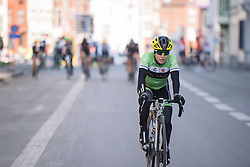 Shelley Olds catches her breath after the finish- 2016 Omloop het Nieuwsblad - Elite Women, a 124km road race from Vlaams Wielercentrum Eddy Merckx to Ghent on February 27, 2016 in East Flanders, Belgium.
