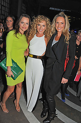 Left to riht, MARIA HATZISTEFANIS, KELLY HOPPEN and ADELA KING at a party to celebrate the Kelly Hoppen and Smallbone kitchen range held at The Collection, 264 Brompton Road, London on 24th September 2012.