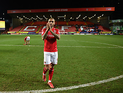 Charlton Athletic's Josh Magennis applauds the fans at full time