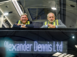 Labour leader Jeremy Corbyn and Scottish Labour leader Richard Leonard at the Alexander Denis factory in Falkirk.<br /> <br /> © Dave Johnston / EEm