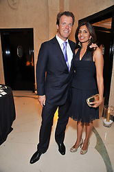 JOEL & DIVIA CADBURY at a dinner in honour of Dennis Basso in celebration of his new boutique in Harrods held at Claridge's, Brook Street, London on 15th October 2009.
