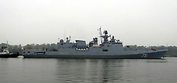 May 31, 2017 - Russia - May 31, 2017. - Russia's Admiral Essen frigate and the Krasnodar submarine have fired four Kalibr missiles at the facilities of the Islamic State terror group (outlawed in Russia) located near the city of Palmyra. In picture: Admiral Essen frigate. Photo: forums.airbase.ru (Credit Image: © Russian Look via ZUMA Wire)