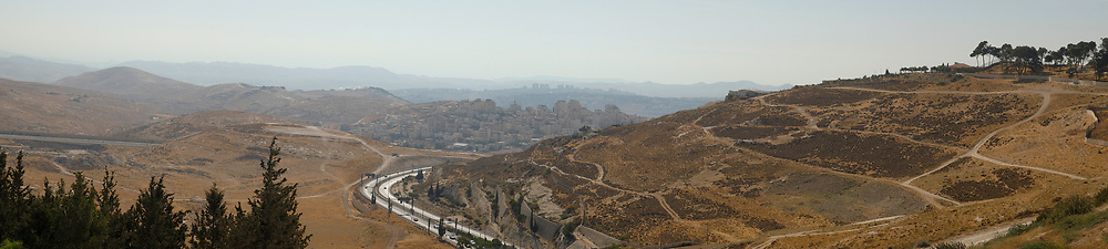Israel, Judean Mountains, on the outskirts of Jerusalem it overlooks the Highway to Jerusalem