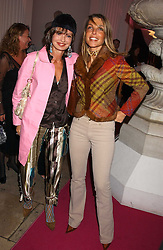 Left to right, COUNTESS MAYA VON SCHONBURG and COUNTESS BARBARA BISMARCK at a 'A Night in Cartier Paradise' to celebrate a new collection of jewellery by Cartier, held at The orangery, Kensington Palace, London W8 on 25th October 2005.<br /><br />NON EXCLUSIVE - WORLD RIGHTS